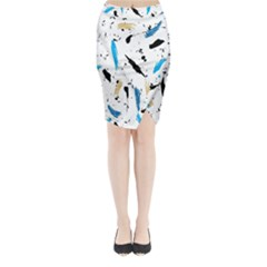 Abstract Image Image Of Multiple Colors Midi Wrap Pencil Skirt