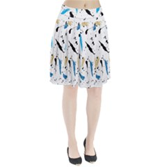 Abstract Image Image Of Multiple Colors Pleated Skirt