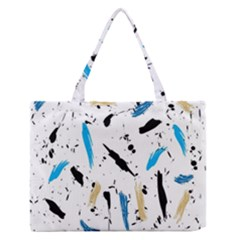 Abstract Image Image Of Multiple Colors Medium Zipper Tote Bag