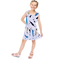 Abstract Image Image Of Multiple Colors Kids  Tunic Dress
