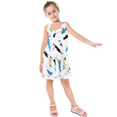 Abstract Image Image Of Multiple Colors Kids  Sleeveless Dress