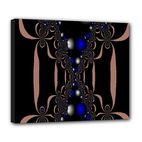 An Interesting Mix Of Blue And Other Colours Balls Deluxe Canvas 24  X 20