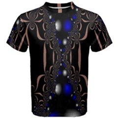 An Interesting Mix Of Blue And Other Colours Balls Men s Cotton Tee