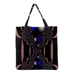 An Interesting Mix Of Blue And Other Colours Balls Grocery Tote Bag