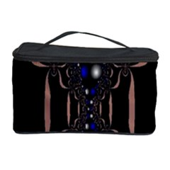 An Interesting Mix Of Blue And Other Colours Balls Cosmetic Storage Case