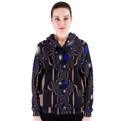 An Interesting Mix Of Blue And Other Colours Balls Women s Zipper Hoodie