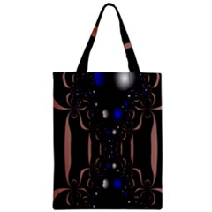 An Interesting Mix Of Blue And Other Colours Balls Zipper Classic Tote Bag