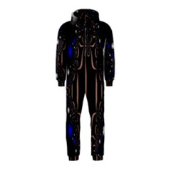 An Interesting Mix Of Blue And Other Colours Balls Hooded Jumpsuit (Kids)