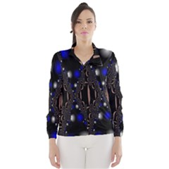 An Interesting Mix Of Blue And Other Colours Balls Wind Breaker (Women)
