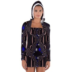 An Interesting Mix Of Blue And Other Colours Balls Women s Long Sleeve Hooded T Shirt