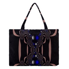 An Interesting Mix Of Blue And Other Colours Balls Medium Tote Bag