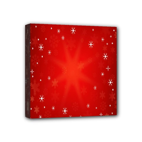 Red Holiday Background Red Abstract With Star Mini Canvas 4  X 4