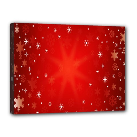 Red Holiday Background Red Abstract With Star Canvas 16  x 12