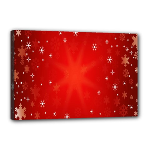 Red Holiday Background Red Abstract With Star Canvas 18  X 12