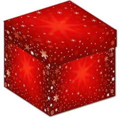 Red Holiday Background Red Abstract With Star Storage Stool 12