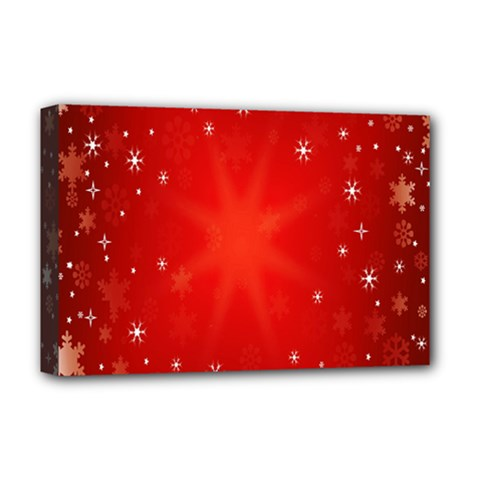 Red Holiday Background Red Abstract With Star Deluxe Canvas 18  x 12