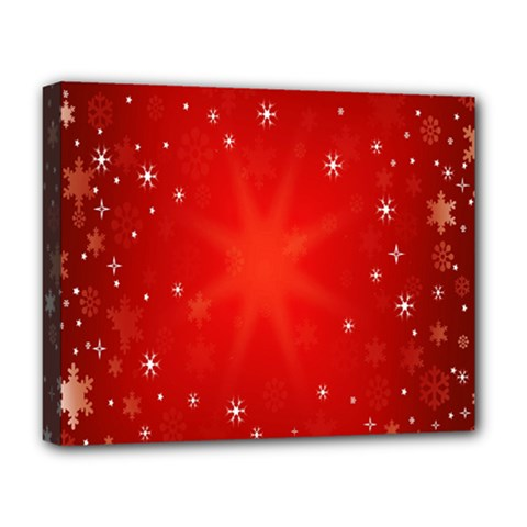Red Holiday Background Red Abstract With Star Deluxe Canvas 20  X 16