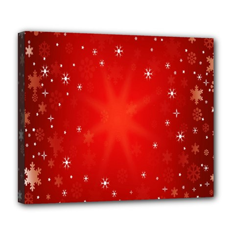 Red Holiday Background Red Abstract With Star Deluxe Canvas 24  x 20
