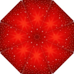 Red Holiday Background Red Abstract With Star Hook Handle Umbrellas (Small)
