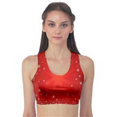 Red Holiday Background Red Abstract With Star Sports Bra