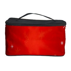 Red Holiday Background Red Abstract With Star Cosmetic Storage Case