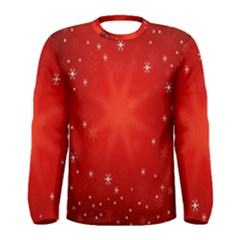 Red Holiday Background Red Abstract With Star Men s Long Sleeve Tee