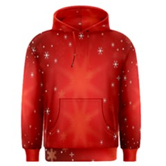 Red Holiday Background Red Abstract With Star Men s Pullover Hoodie