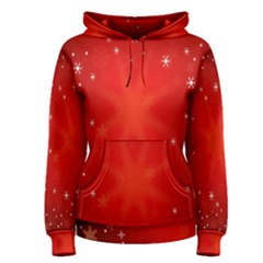 Red Holiday Background Red Abstract With Star Women s Pullover Hoodie