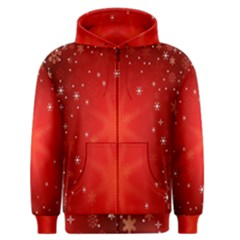 Red Holiday Background Red Abstract With Star Men s Zipper Hoodie