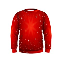 Red Holiday Background Red Abstract With Star Kids  Sweatshirt