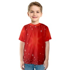 Red Holiday Background Red Abstract With Star Kids  Sport Mesh Tee
