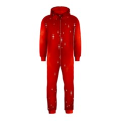 Red Holiday Background Red Abstract With Star Hooded Jumpsuit (Kids)