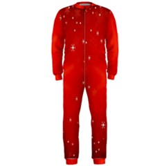 Red Holiday Background Red Abstract With Star OnePiece Jumpsuit (Men)