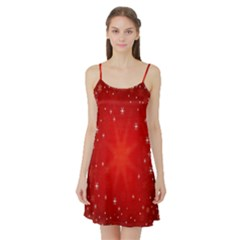 Red Holiday Background Red Abstract With Star Satin Night Slip