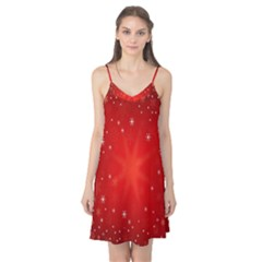Red Holiday Background Red Abstract With Star Camis Nightgown