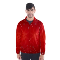 Red Holiday Background Red Abstract With Star Wind Breaker (men)
