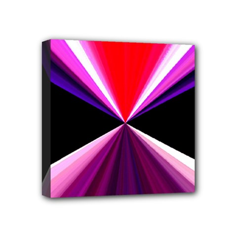 Red And Purple Triangles Abstract Pattern Background Mini Canvas 4  x 4
