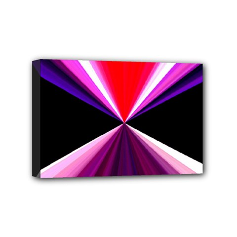 Red And Purple Triangles Abstract Pattern Background Mini Canvas 6  x 4