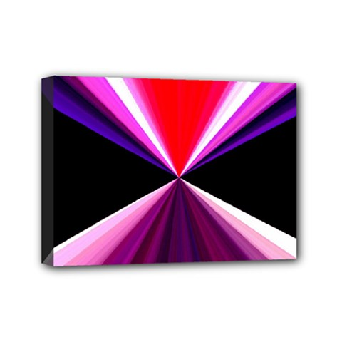 Red And Purple Triangles Abstract Pattern Background Mini Canvas 7  X 5