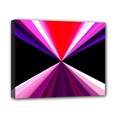 Red And Purple Triangles Abstract Pattern Background Canvas 10  x 8
