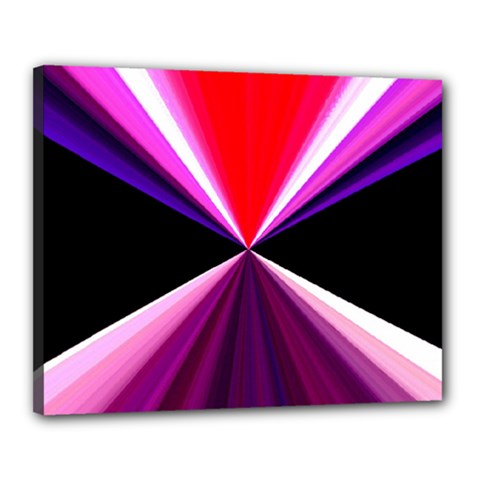 Red And Purple Triangles Abstract Pattern Background Canvas 20  x 16