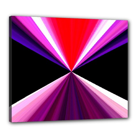 Red And Purple Triangles Abstract Pattern Background Canvas 24  x 20