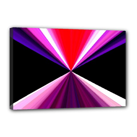 Red And Purple Triangles Abstract Pattern Background Canvas 18  x 12