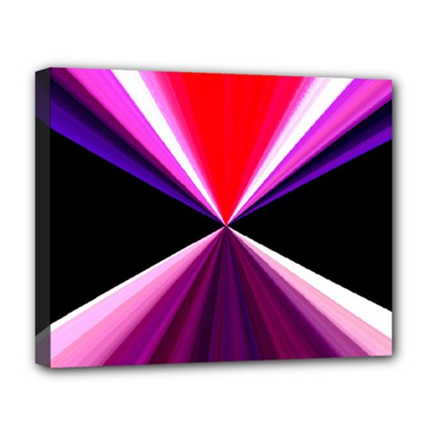 Red And Purple Triangles Abstract Pattern Background Deluxe Canvas 20  x 16