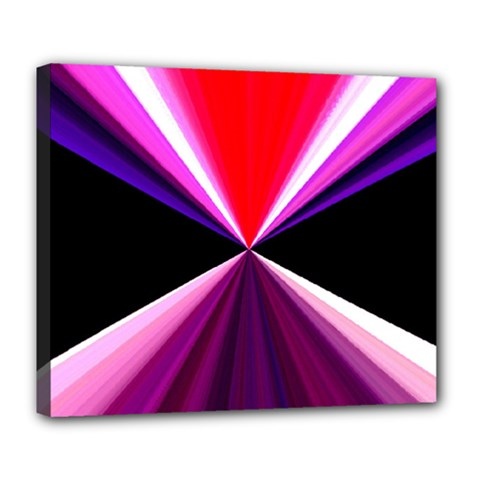 Red And Purple Triangles Abstract Pattern Background Deluxe Canvas 24  x 20