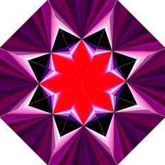Red And Purple Triangles Abstract Pattern Background Hook Handle Umbrellas (Large)