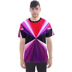 Red And Purple Triangles Abstract Pattern Background Men s Sport Mesh Tee