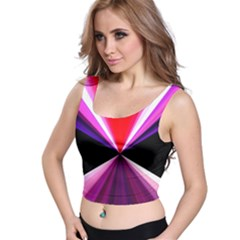 Red And Purple Triangles Abstract Pattern Background Crop Top