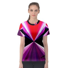 Red And Purple Triangles Abstract Pattern Background Women s Sport Mesh Tee