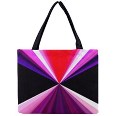 Red And Purple Triangles Abstract Pattern Background Mini Tote Bag
